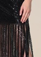 Agenda Şerit Payet Detaylı Elbise Siyah